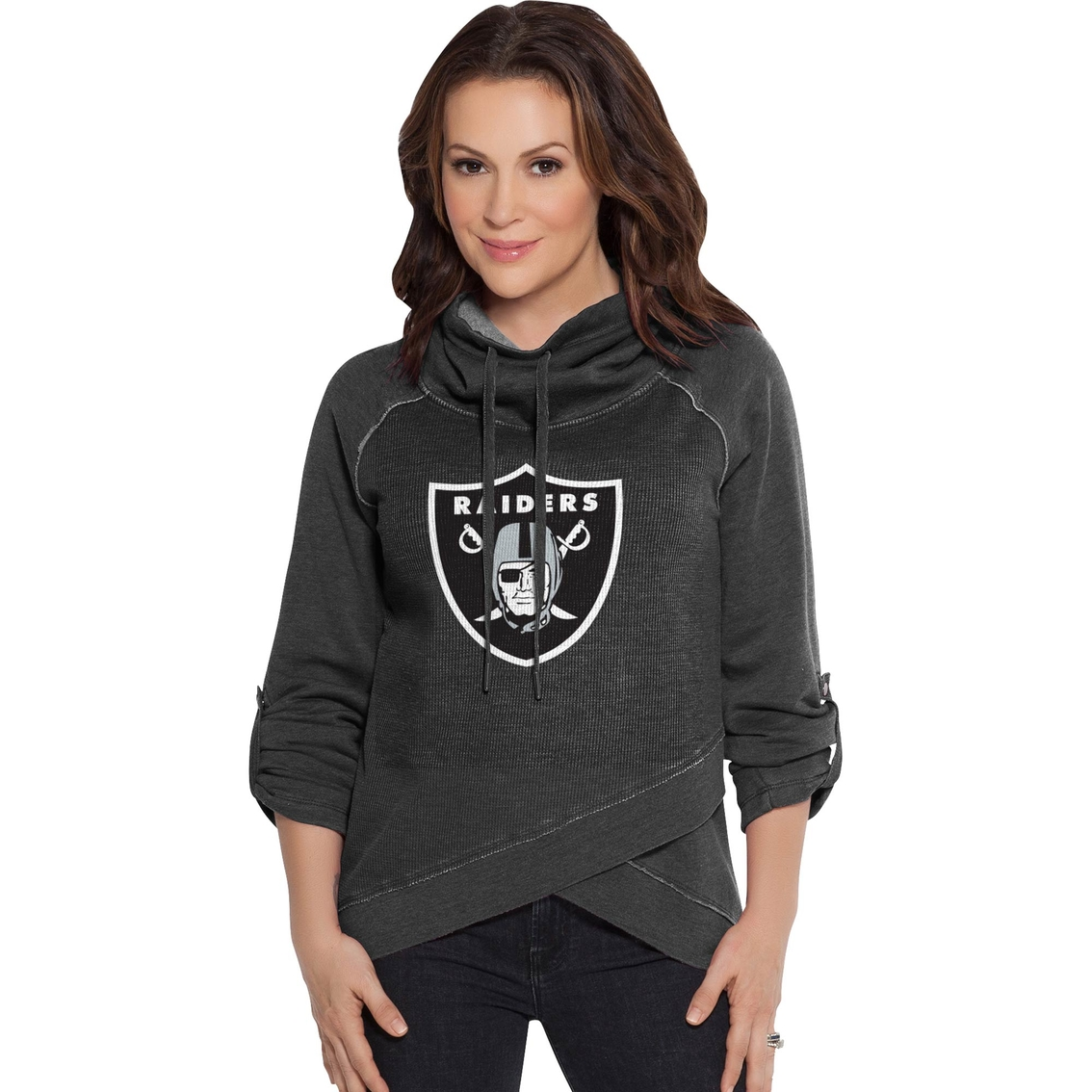 check out 3b8a7 90363 Touch By Alyssa Milano Nfl Oakland Raiders Women's Wildcard ...