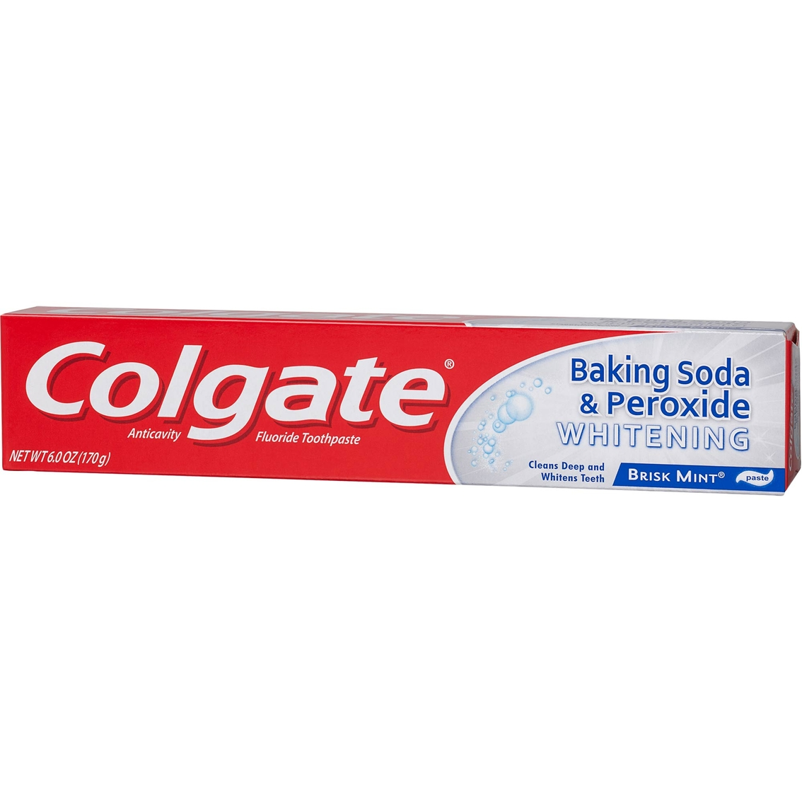 Colgate Whitening Toothpaste With Baking Soda And Peroxide Brisk