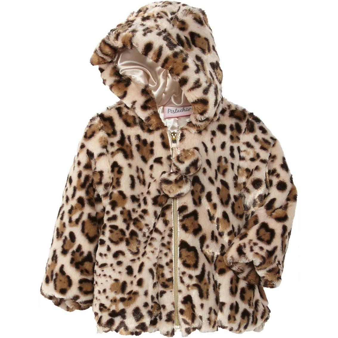 7bb01abcc Pistachio Infant Girls Wildcat Faux Fur Jacket