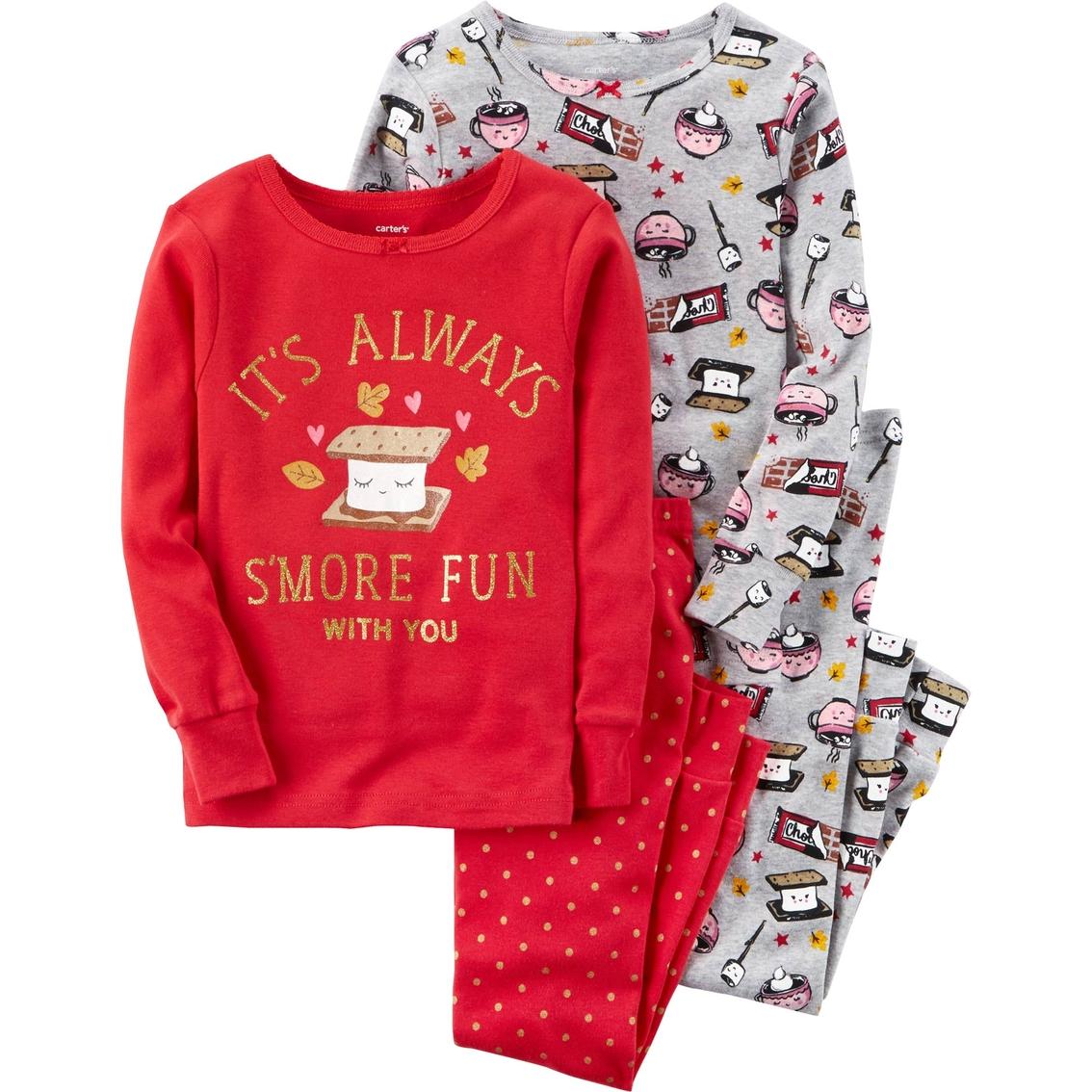 498a2c3e4 Carter's Girls 4 Pc. S'more Fun Pajama Set, Size 7 | Girls 7-16 ...