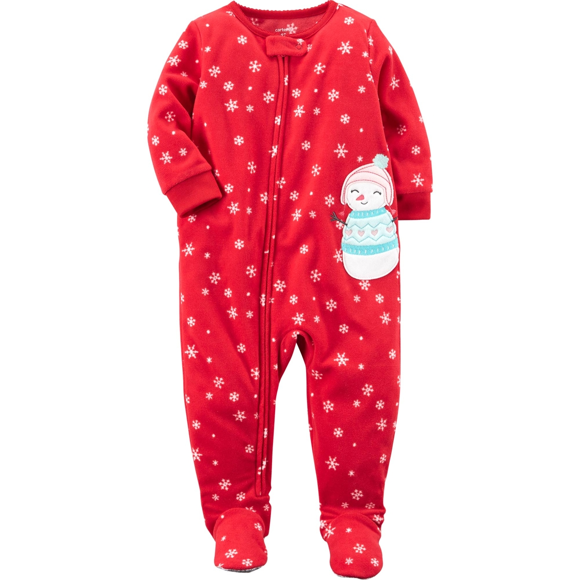 Carter s Infant Girls 1 Pc. Fleece Snowman Pajamas With Feet  74faed9d0
