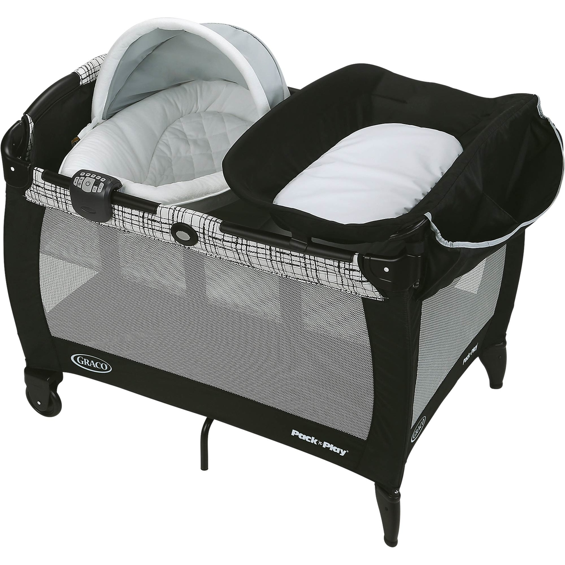 ce01445d8bf Graco Pack  n Play Playard Newborn Napper and Bassinet with Soothe Surround