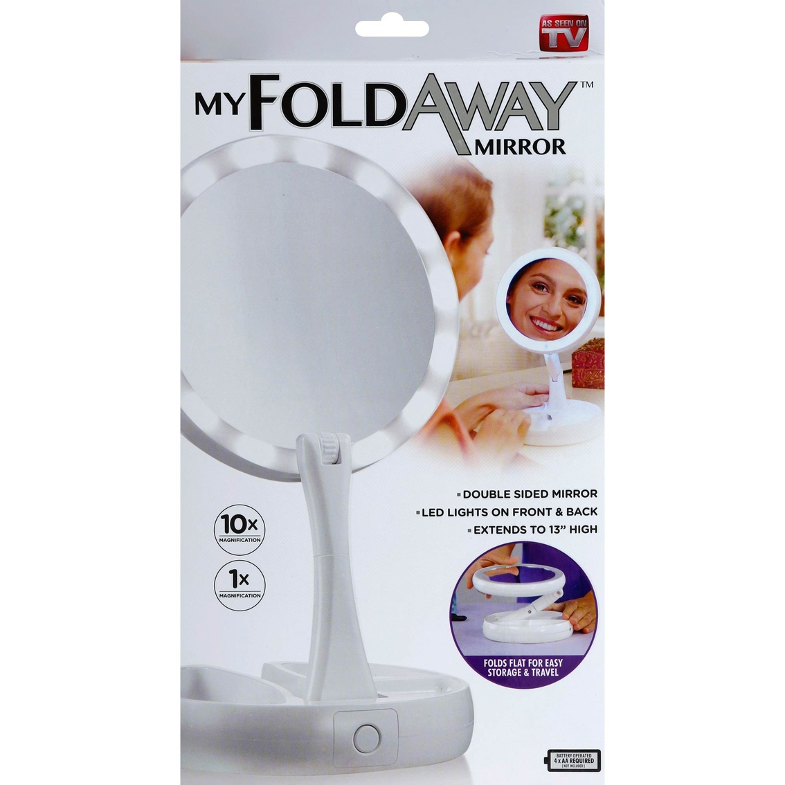 As Seen On Tv My Foldaway Mirror Battery Op Folding