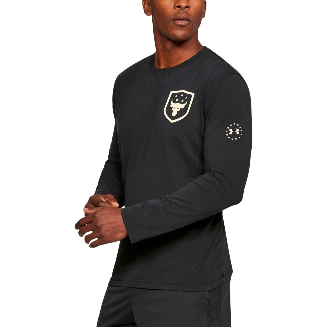 the rock under armour t shirt