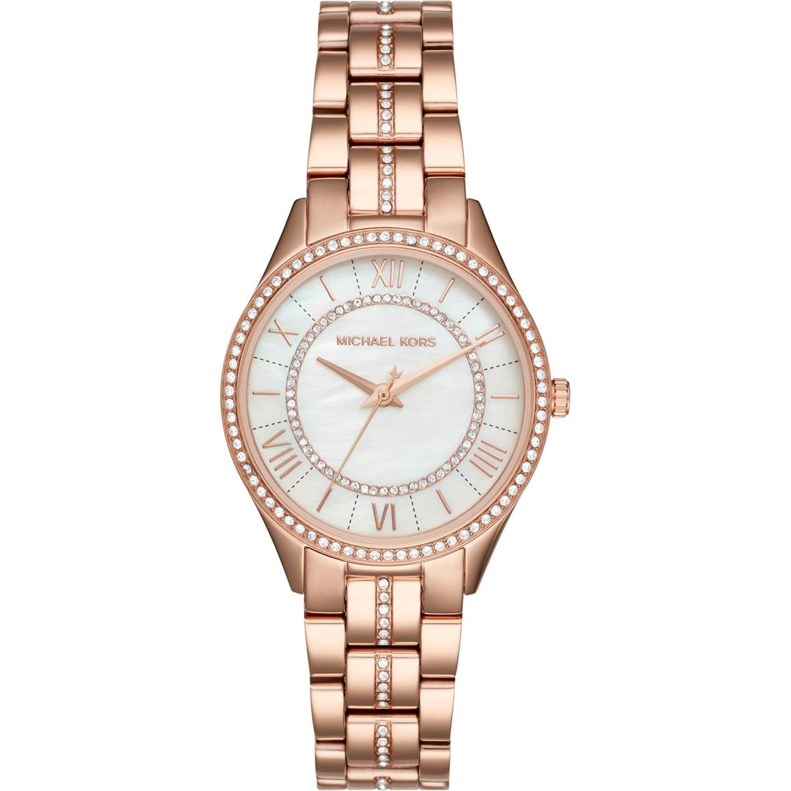 539faaf75efa Michael Kors Lauryn Rose Goldtone Three Hand Watch 33mm Mk3716 ...