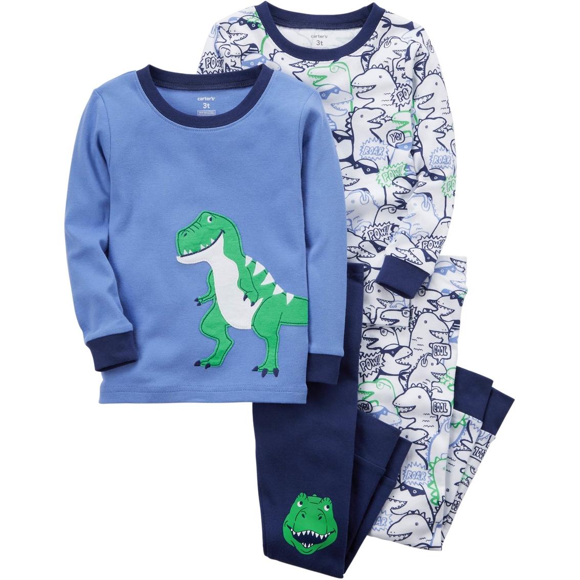 11cf7cba5 Carter s Infant Boys 4 Pc. Dinosaur Pajama Set