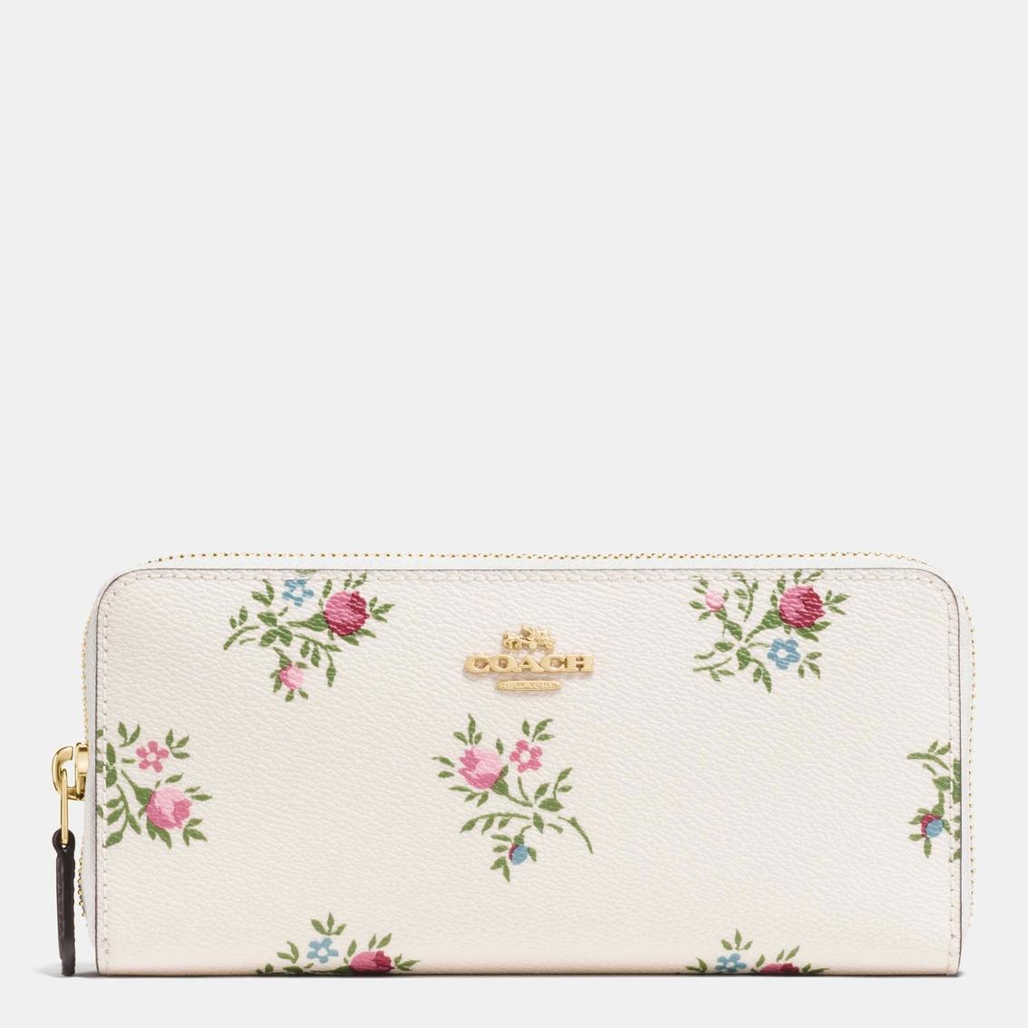 Coach slim accordion zip wallet with cross stitch floral print coach slim accordion zip wallet with cross stitch floral print coated canvas mightylinksfo