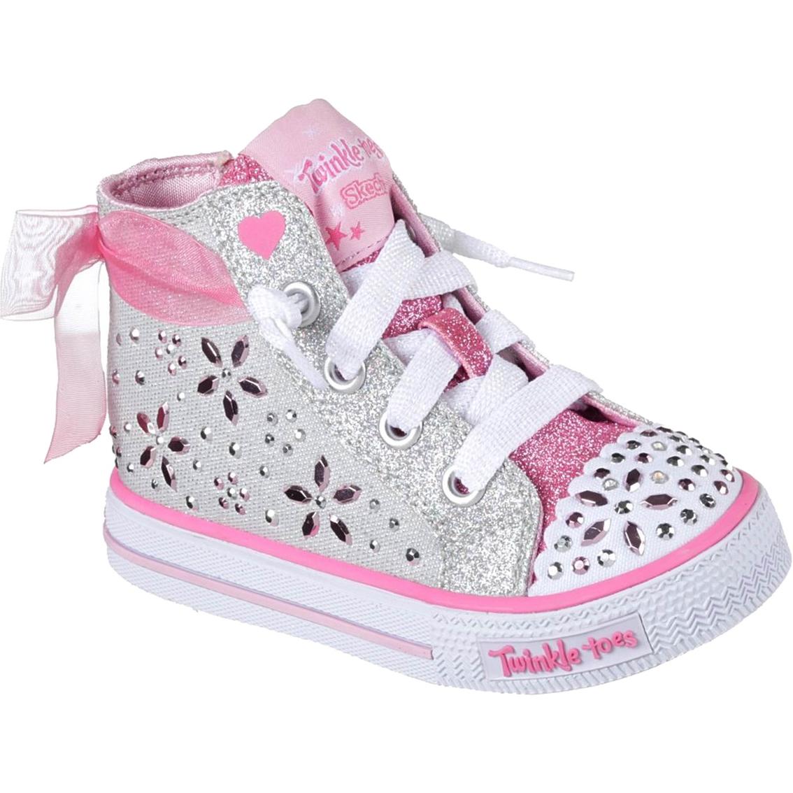 Skechers Toddler Girls Twinkle Toe Shuffles Fancy Fave