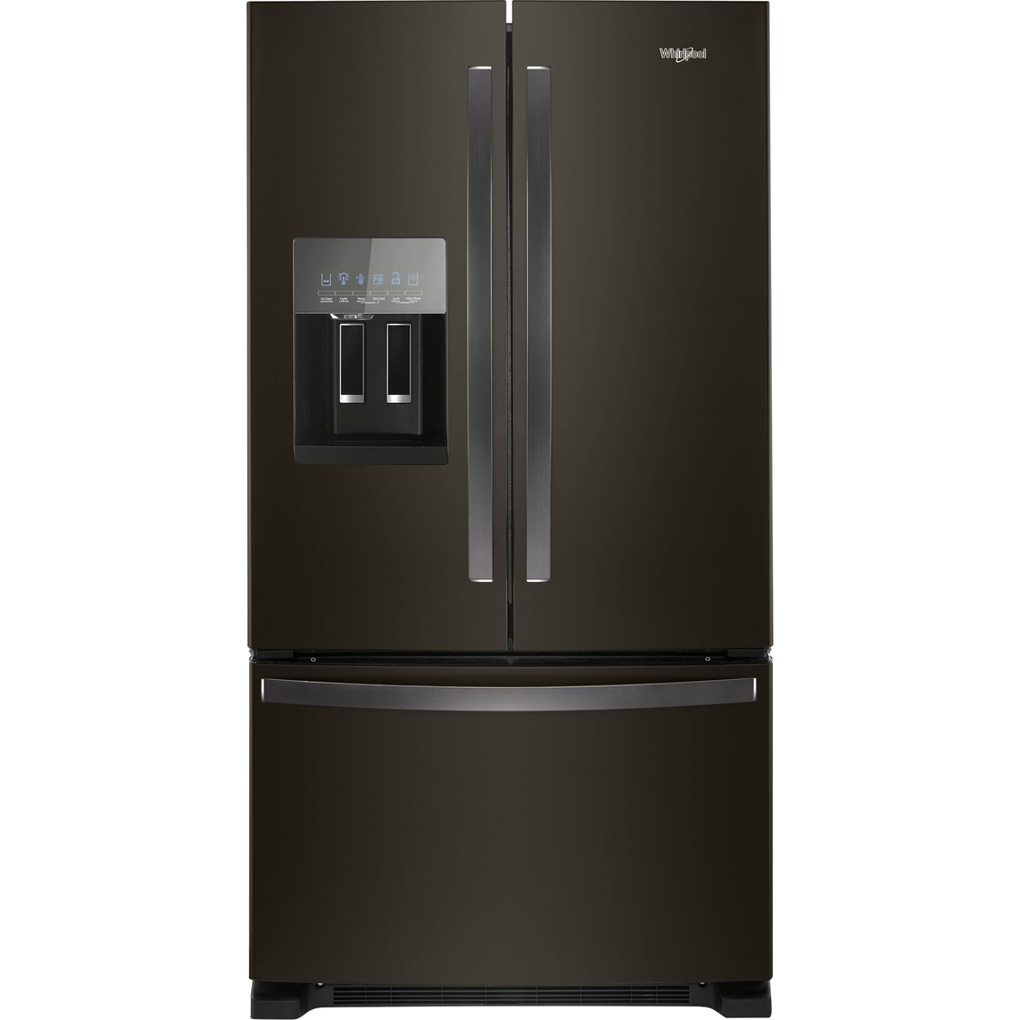 whirlpool 25 cu ft stainless steel french door refrigerator refrigerators home. Black Bedroom Furniture Sets. Home Design Ideas