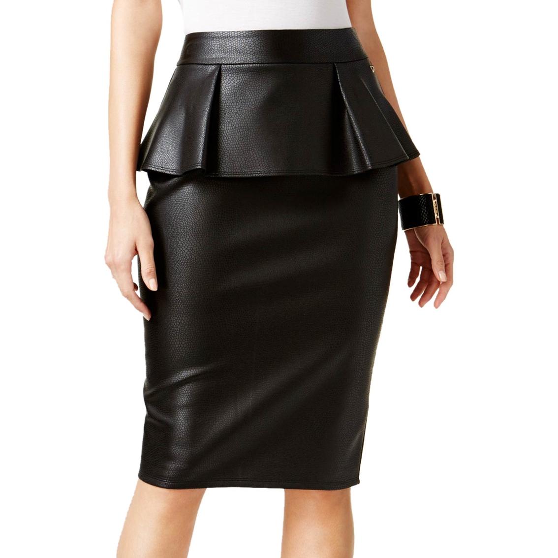 5f416e70d2 Thalia Sodi Faux-leather Peplum Pencil Skirt | Skirts | Apparel ...