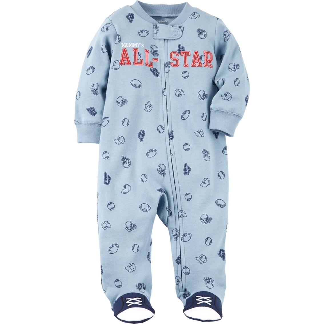 aecd31e7e Carter s Infant Boys Mommy s All Star Zip Up Sleeper