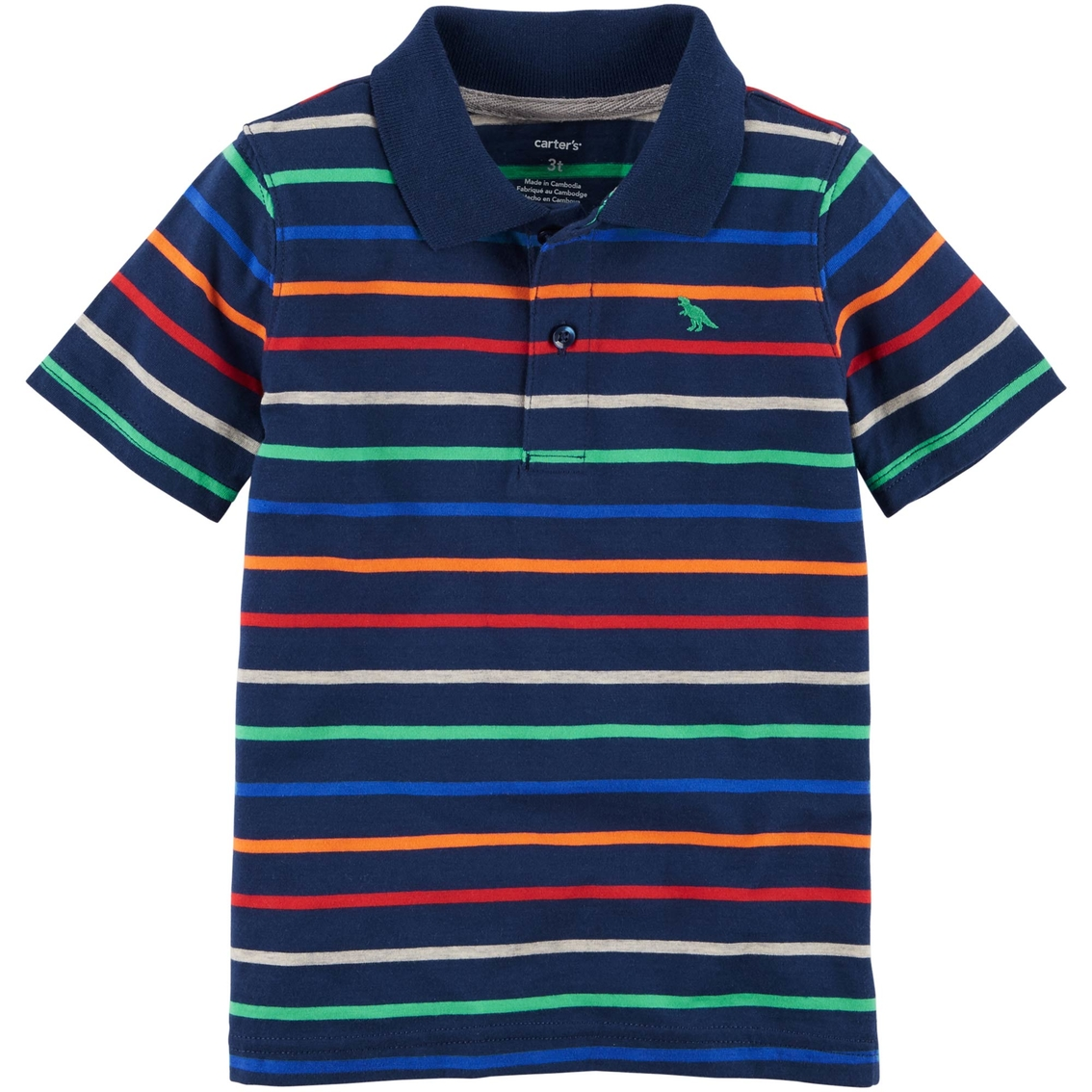 41e56d2f6 Carter's Toddler Boys Rainbow Striped Polo Shirt | Toddler Boys 2t ...