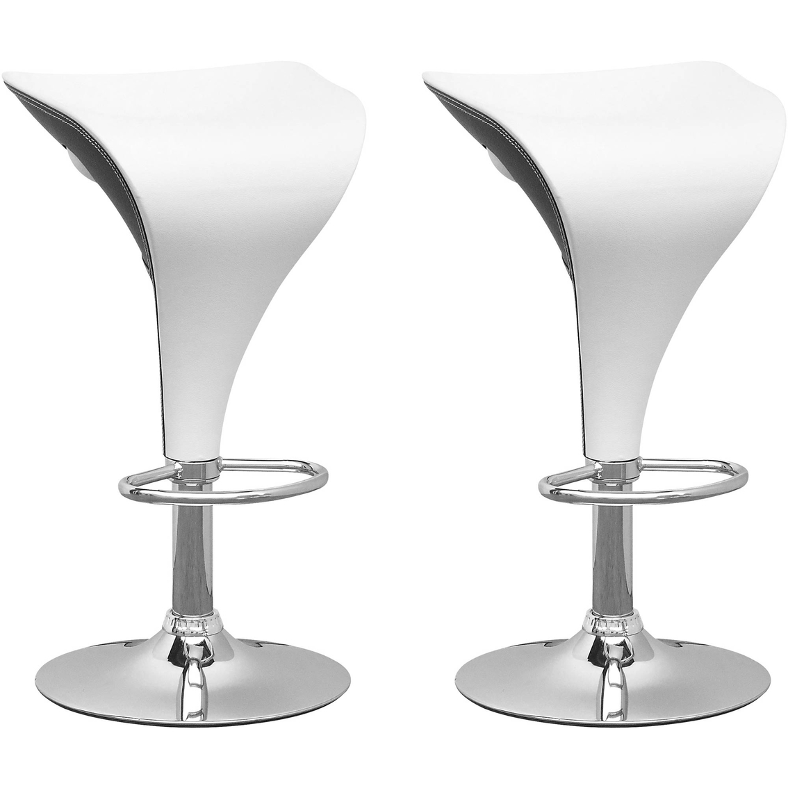 Super Corliving Adjustable Two Toned Bar Stool In Black And White Dailytribune Chair Design For Home Dailytribuneorg