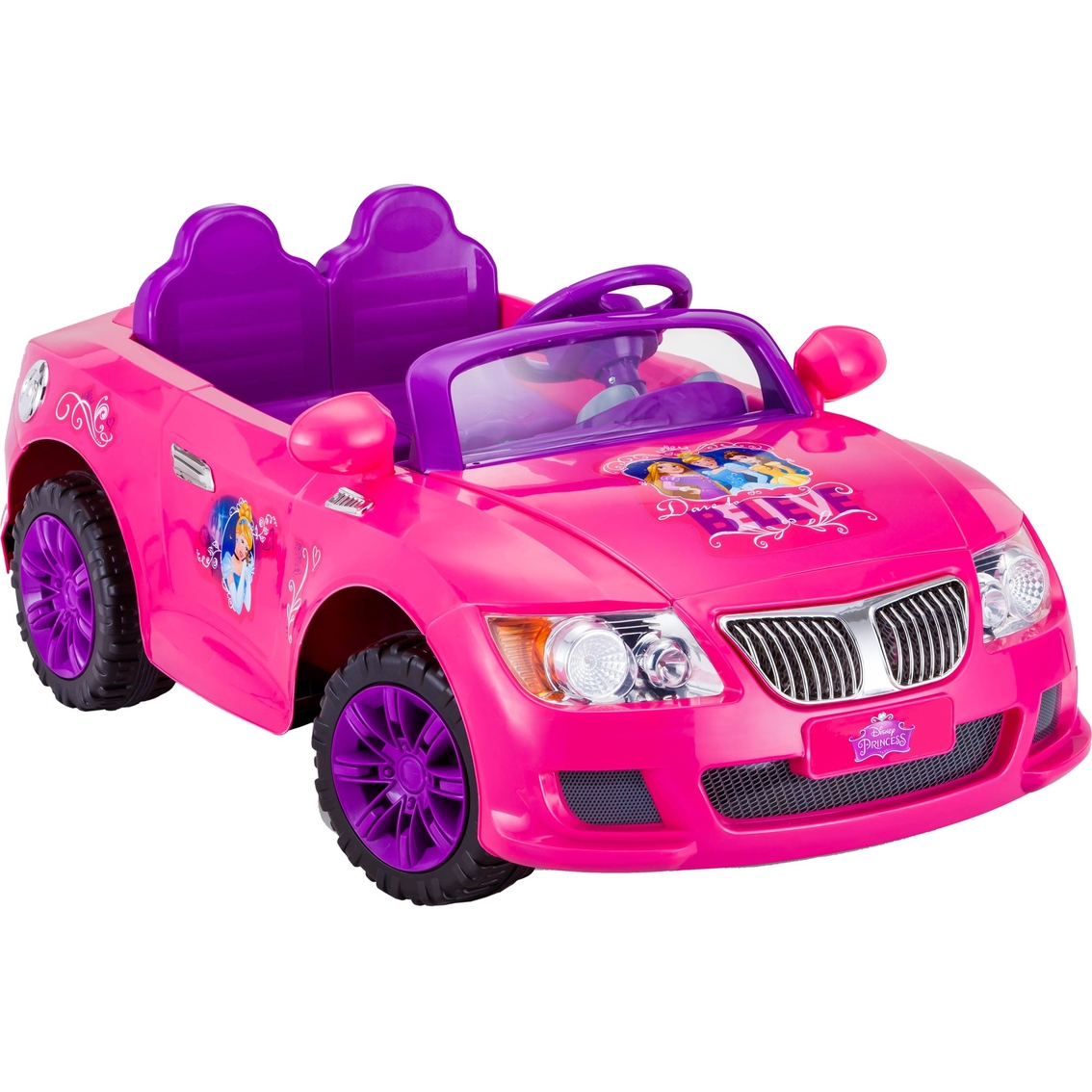 Kidtrax Disney Princess Cool Car 12v Electric Ride On | Battery ...
