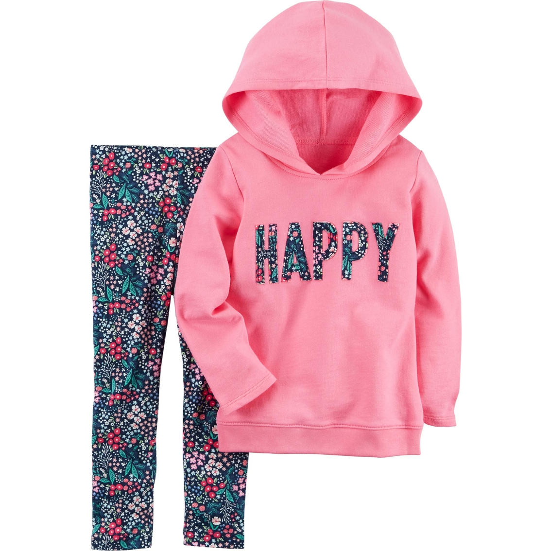 e0e54f4815a32 Carter's Toddler Girls 2 Pc. Happy Hoodie And Floral Leggings Set ...
