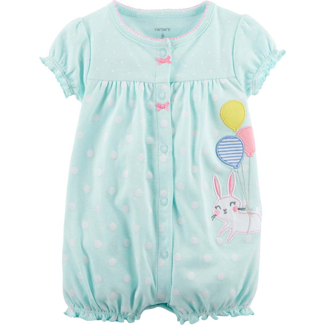 1a1455cd5 Carter s Infant Girls Bunny Snap Up Cotton Romper