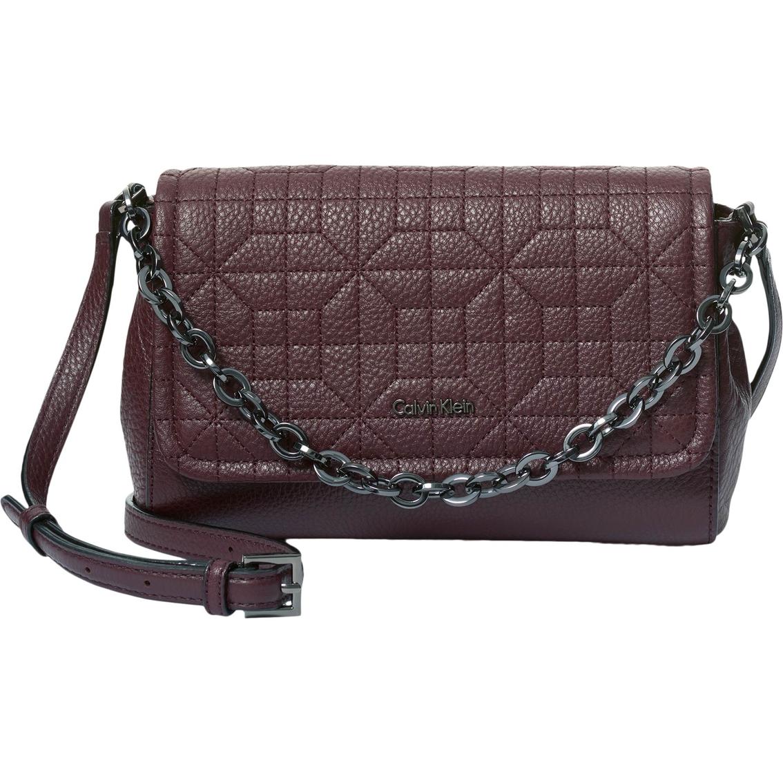Calvin Klein Hera Quilted Pebble Leather Crossbody Handbag