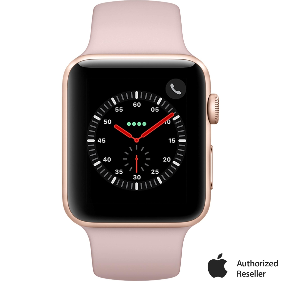 9074c1867a35d6 Apple Watch Series 3 GPS + Cellular Gold Aluminum Case with Pink Sand Sport  Band