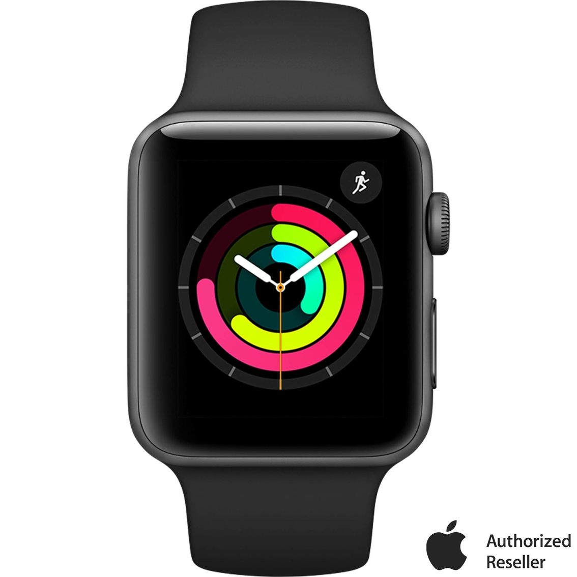 718bc5bf6 Apple Watch Series 3 GPS Space Gray Aluminum Case with Black Sport Band