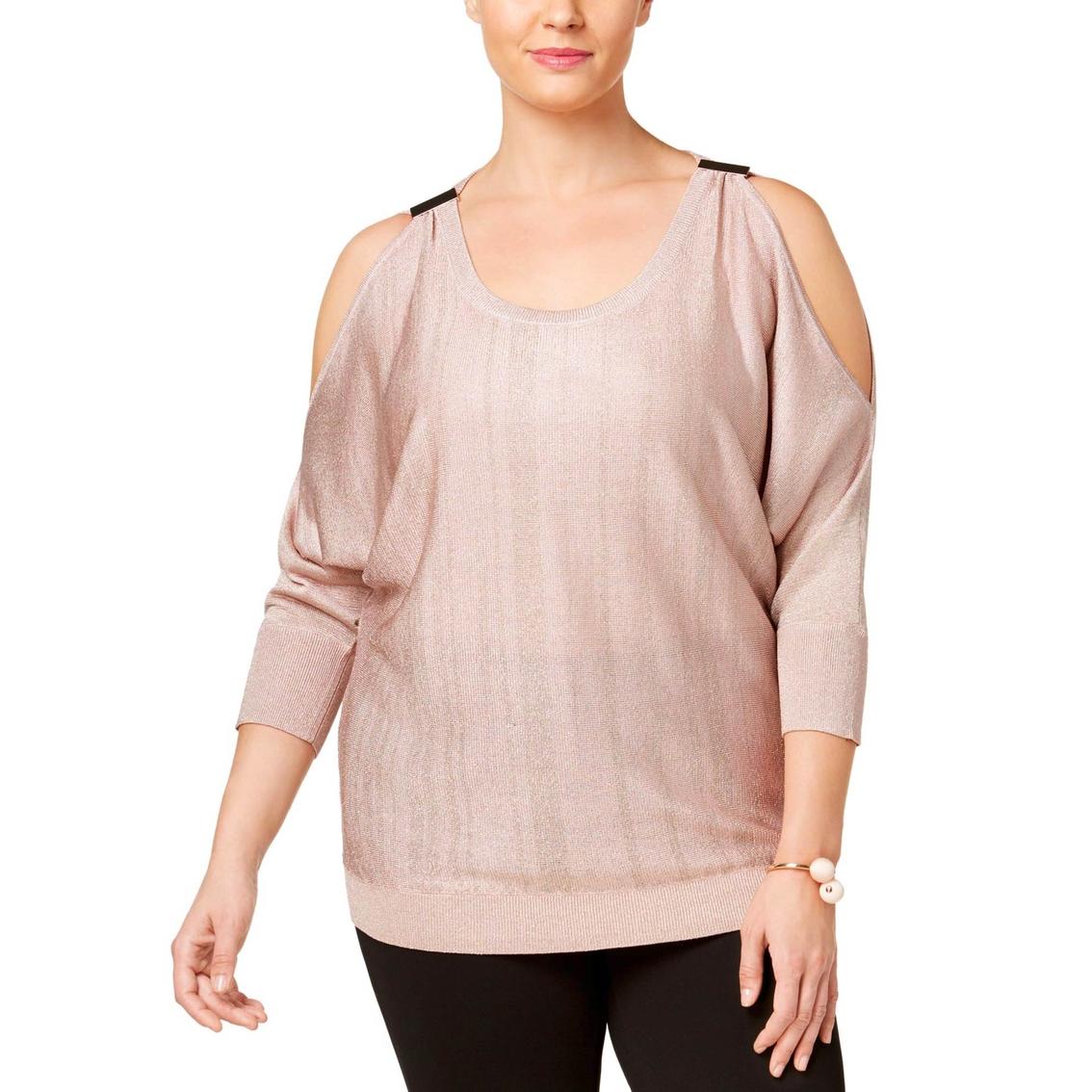 7ff60bb5fb2 Inc International Concepts Plus Size Cold Shoulder Sweater ...