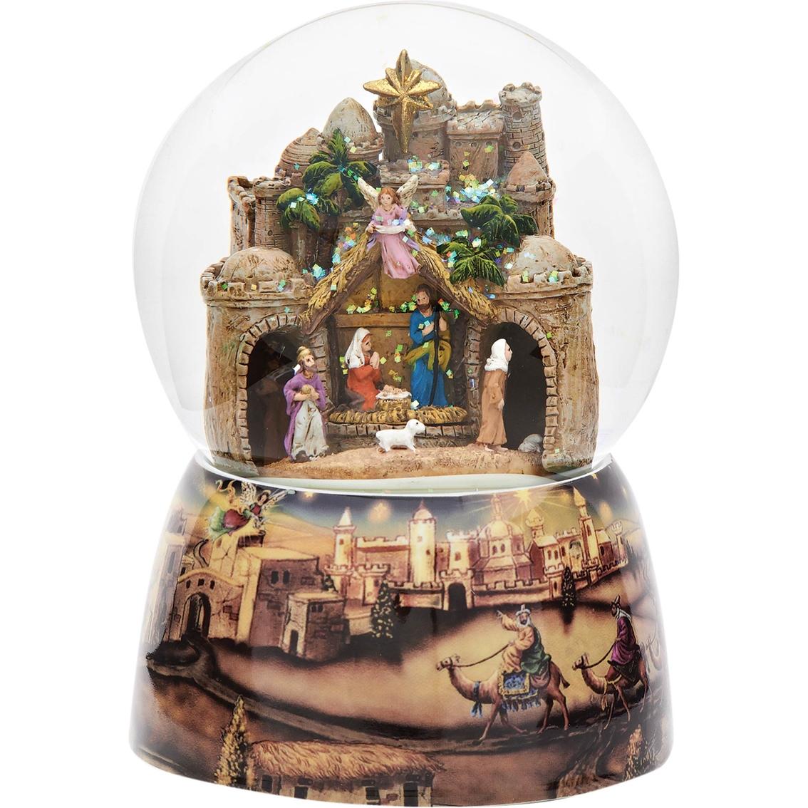 Roman Bethlehem City Christmas Animated Musical Glass Glitter Dome ...