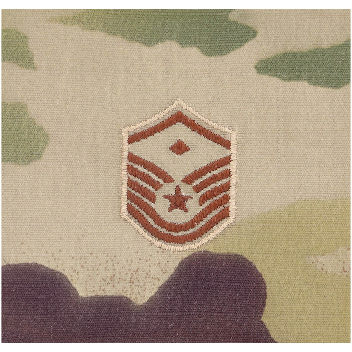 Air Force Chevron Master Sergeant With Diamond E-8 Sew-on