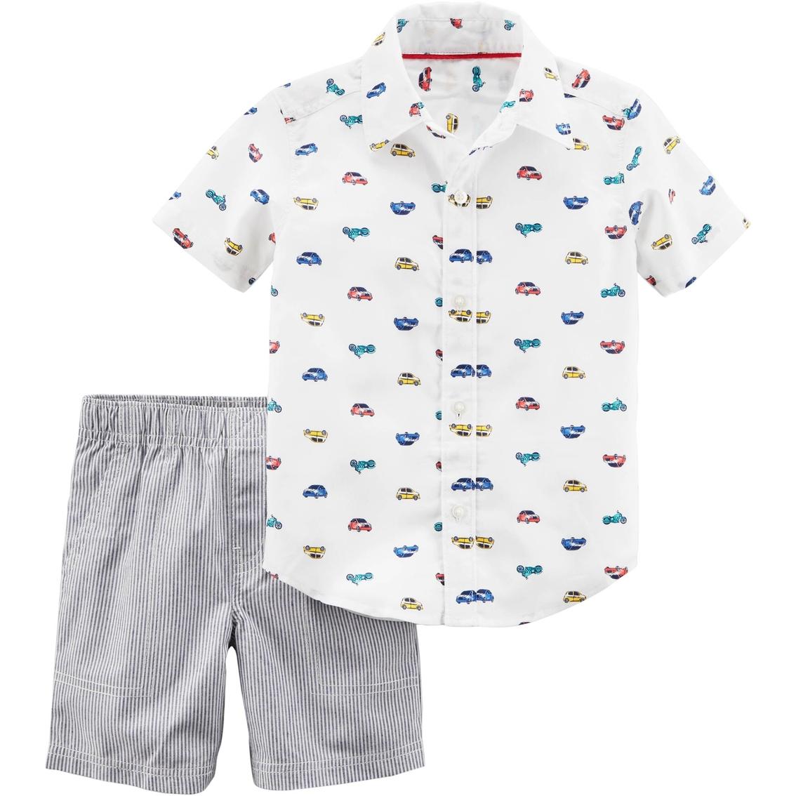 2caedfc94 Carter s Toddler Boys 2 Pc. Car Shirt And Shorts Set