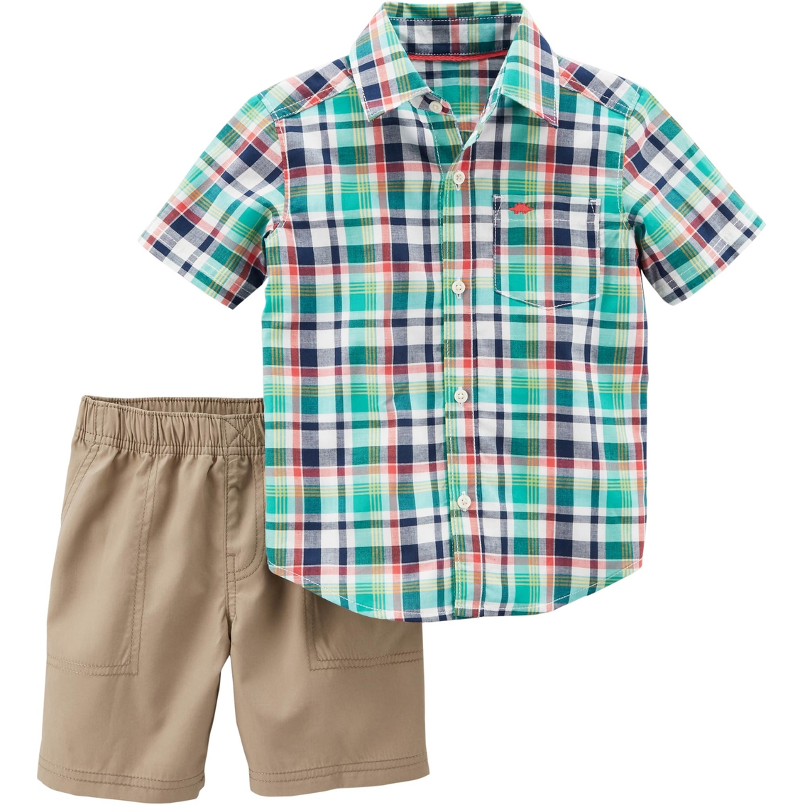 c5a979cb2 Carter's Toddler Boys 2 Pc. Plaid Shirt And Shorts Set | Toddler ...