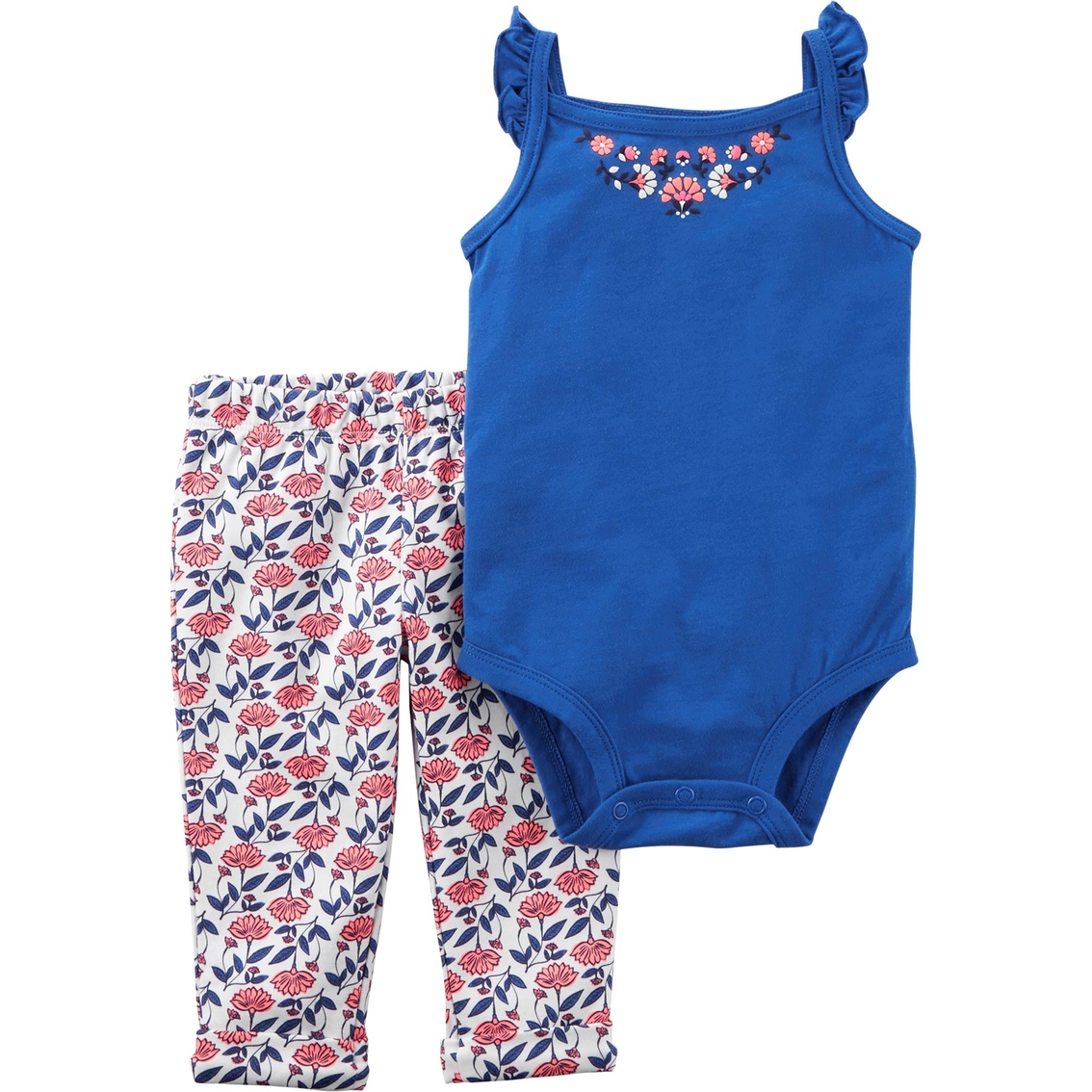 8c54094beecb Carter s Infant Girls 2 Pc. Floral Bodysuit And Pants Set