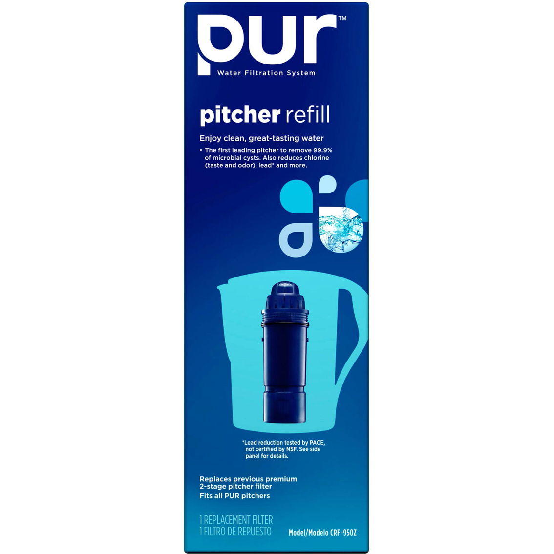 Pur Water Filtration System Pitcher Replacement Filter | Water ...