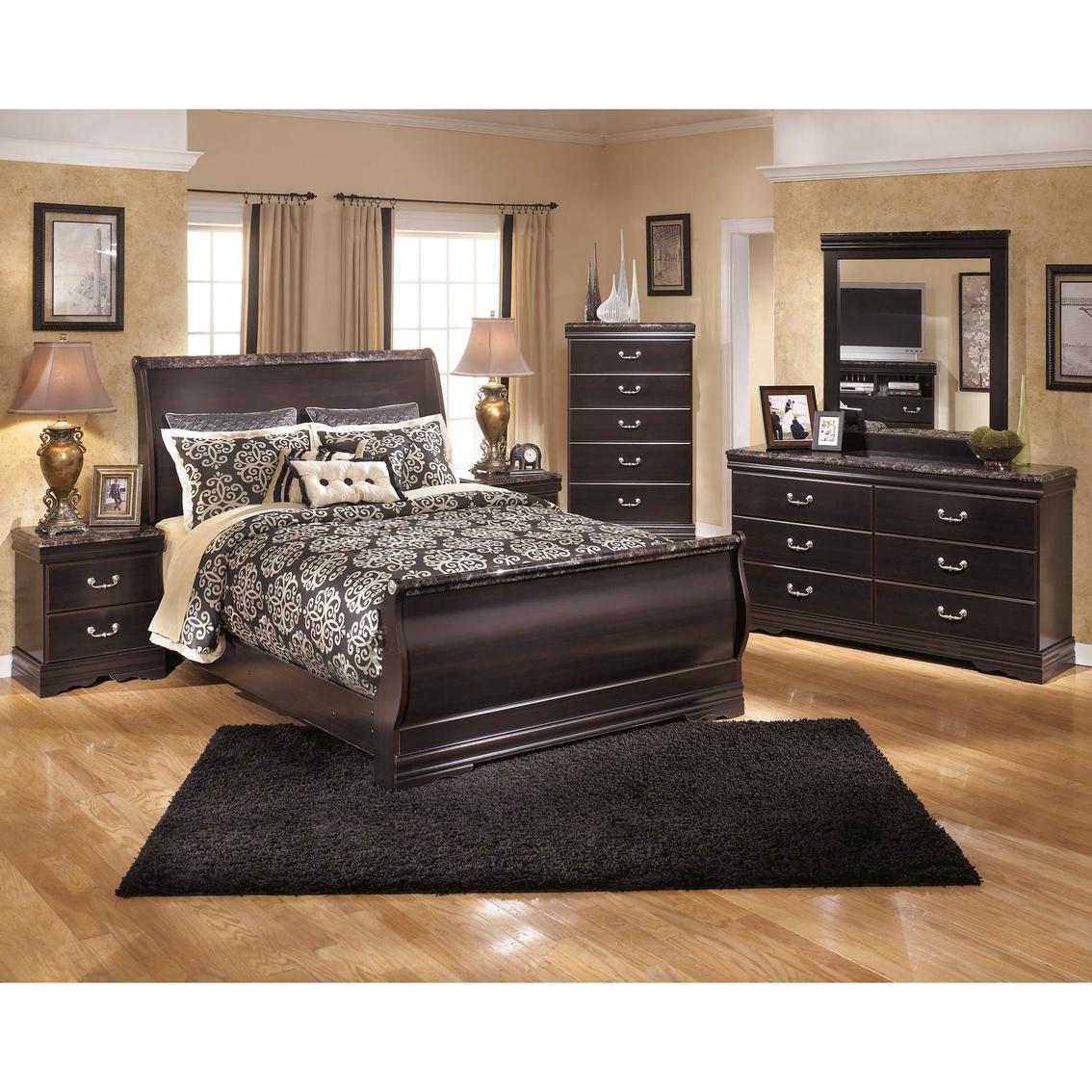 Signature Design By Ashley Esmarelda Sleigh Bed 5 Pc. Bedroom Set