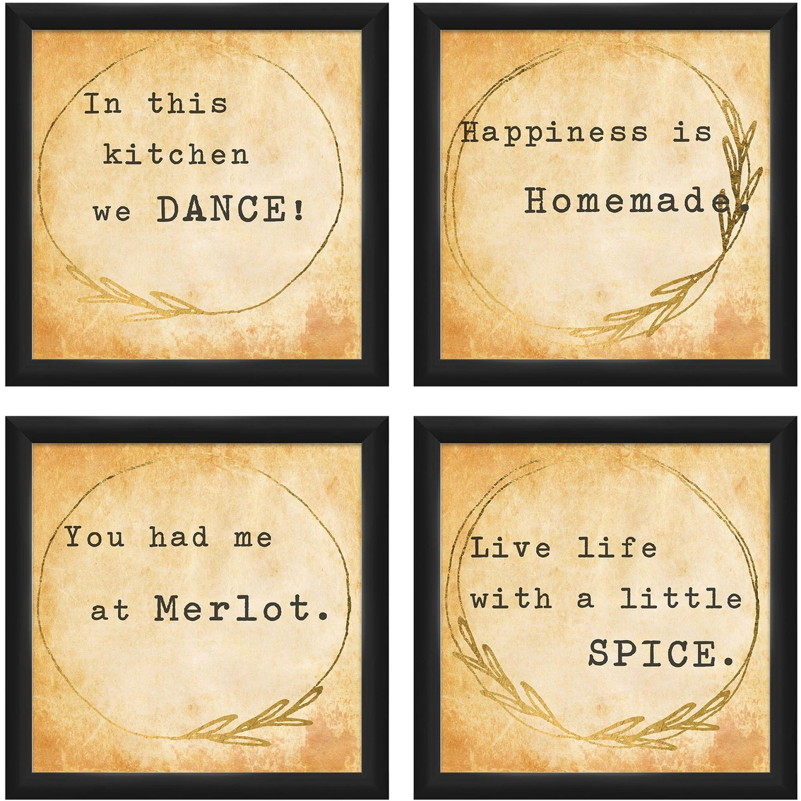 Inspired Sentiments 4 Pc. Wall Art | Kitchen | Home & Appliances ...