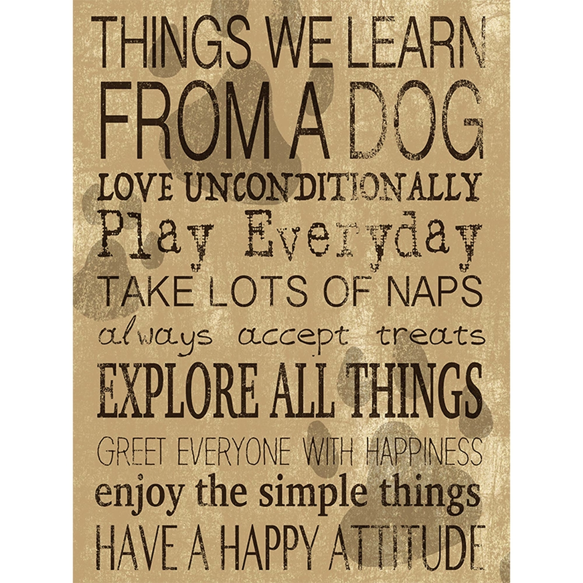 Ptm Images Things We Learn From A Dog Decorative Plaque Wall Art ...