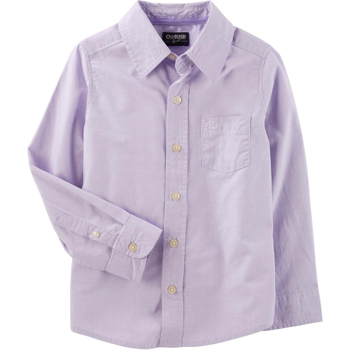 Oshkosh Bgosh Little Boys Woven Button Front Shirt Boys 4 7x
