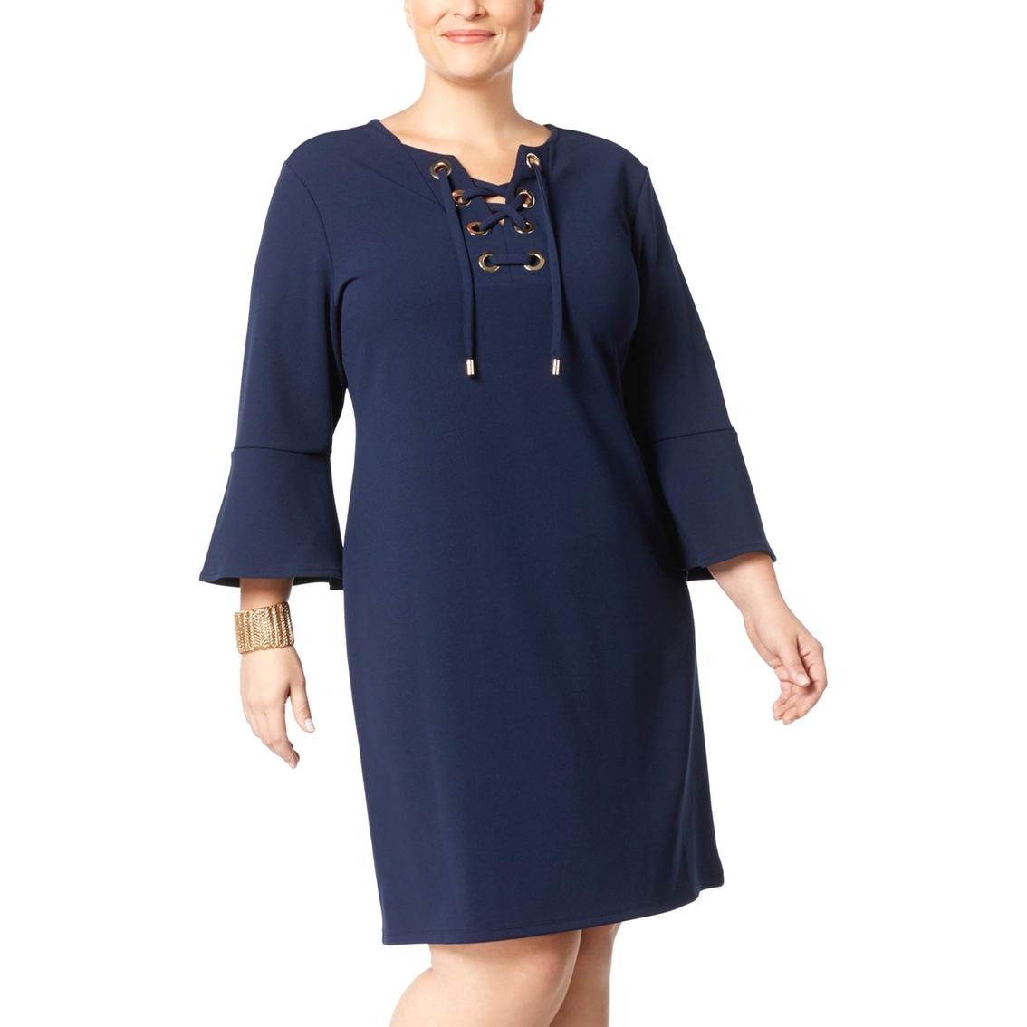 decce08f712d4 Charter Club Plus Size Lace Up Knit Dress | Dresses | Apparel | Shop ...