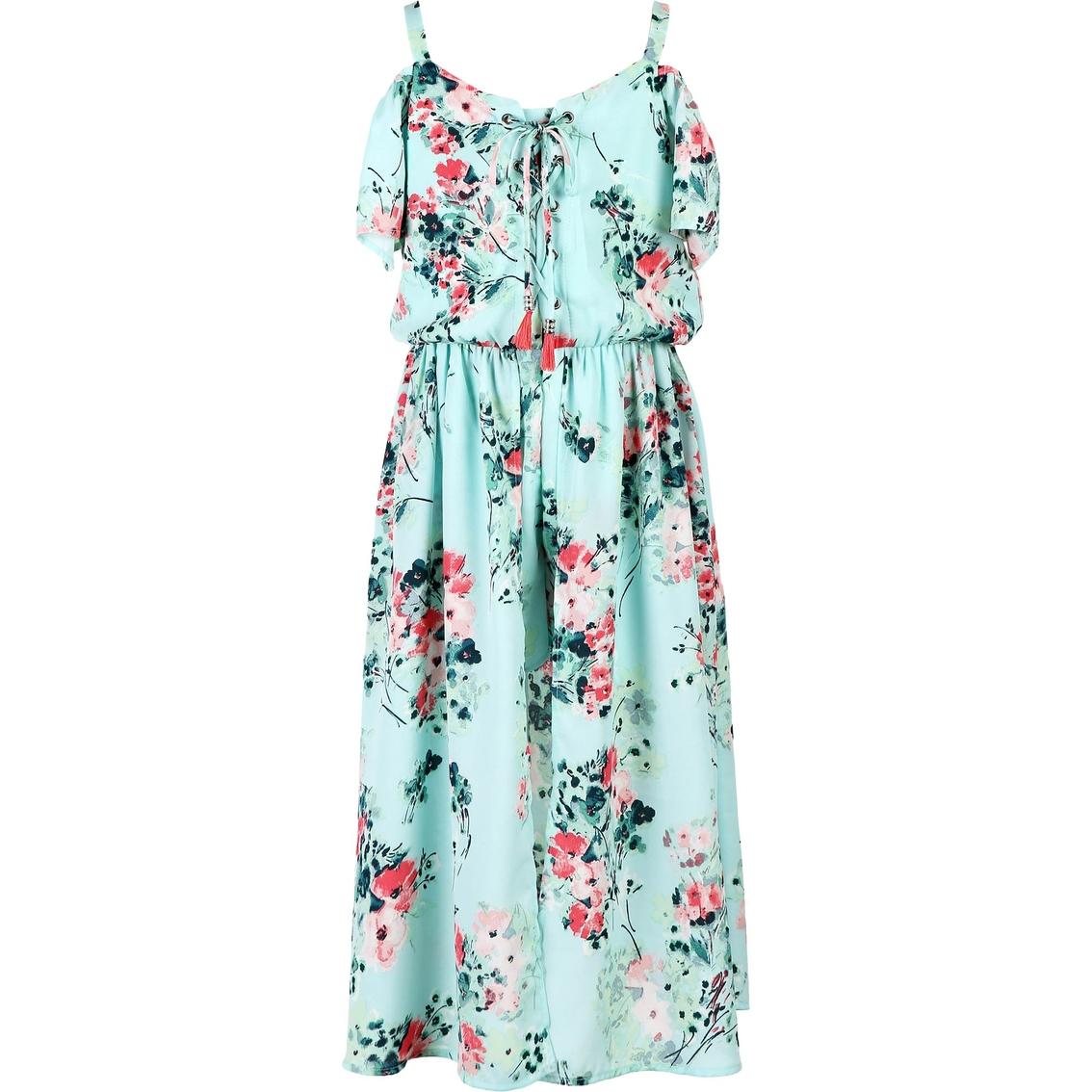 38a8f8172f79 Speechless Girls Floral Chiffon Romper Dress | Girls 7-16 | Apparel ...