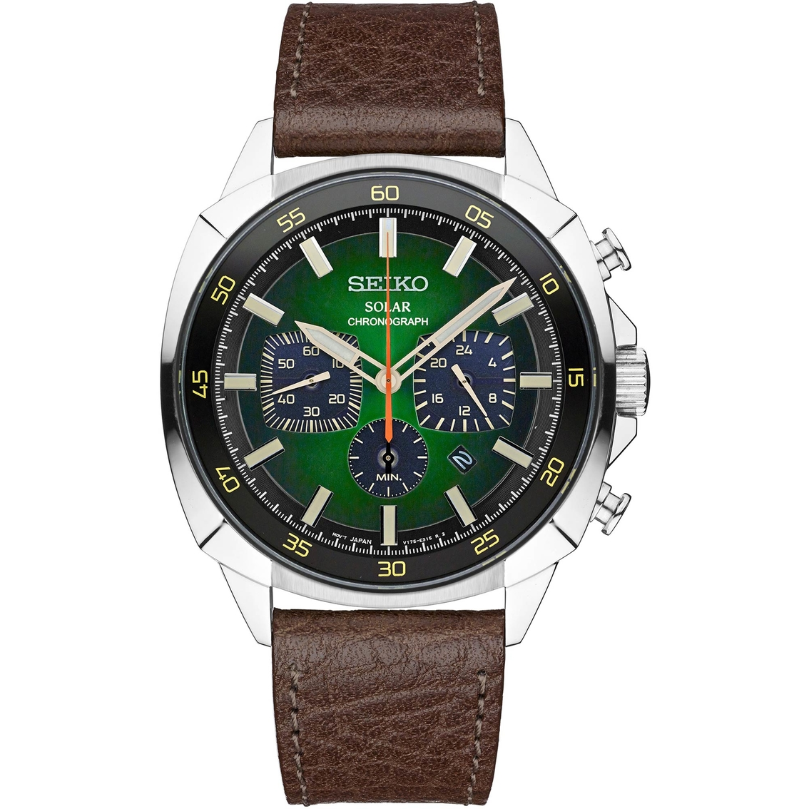58860b5bf Seiko Men's Recraft Series Solar Chronograph Ssc513 | Leather Band ...