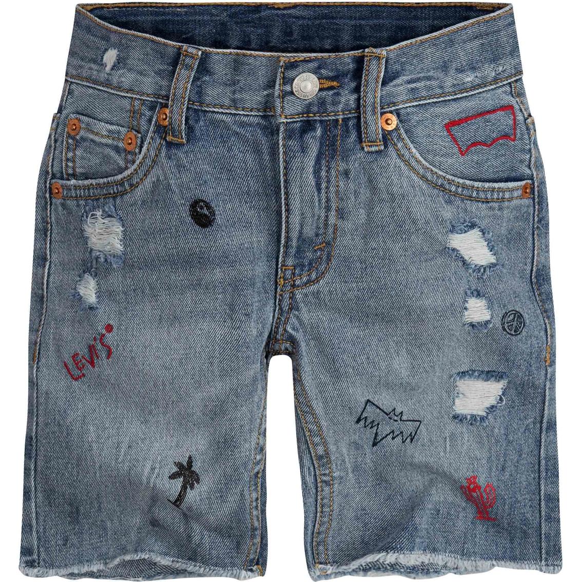 878c0b56 Levi's Little Boys 511 Slim Fit Distressed Cut Off Shorts | Boys 4 ...