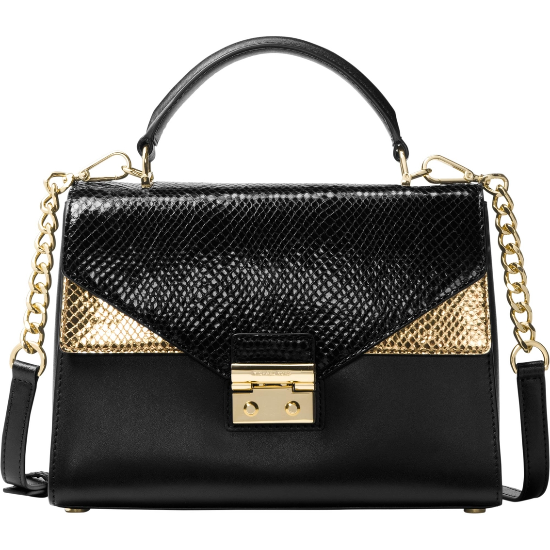b48b39e128b2 sweden michael kors sloan shoulder flap leather blk grain 0c53e 52151; best  price michael kors sloan medium double flap top handle satchel 0fb5e d696a