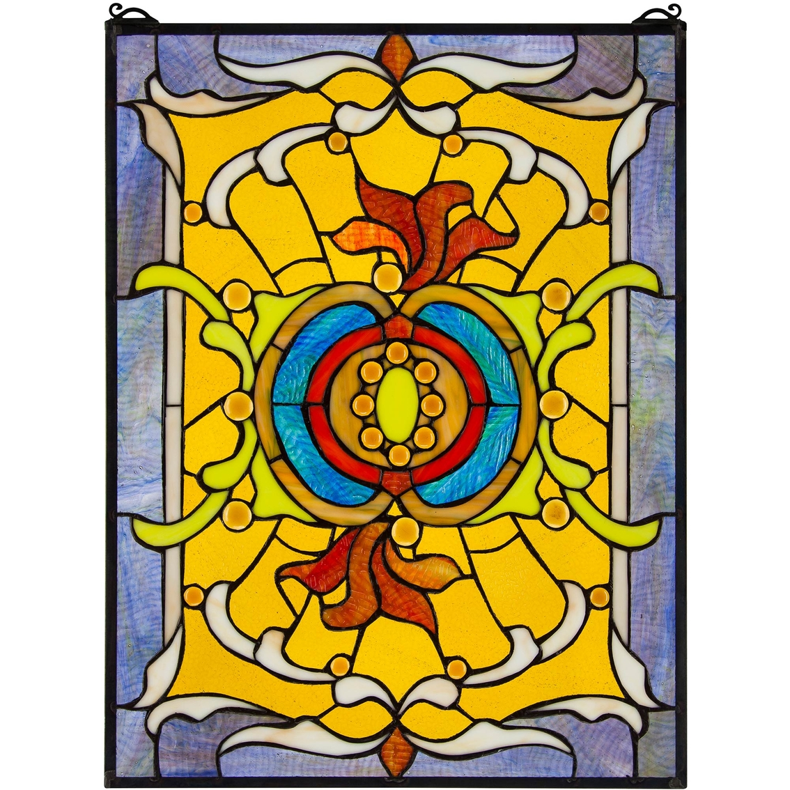 Design Toscano Gilded Age Tiffany Style Stained Glass Window | Metal ...