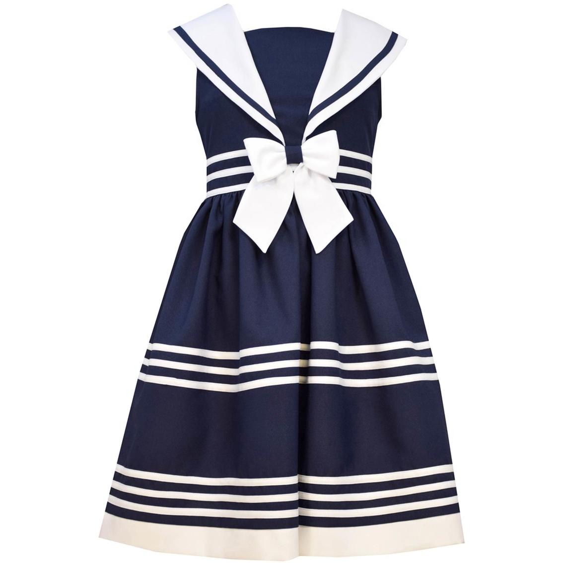 2e3d5ad9c15 Bonnie Jean Toddler Girls Traditional Sleeveless Nautical Dress ...