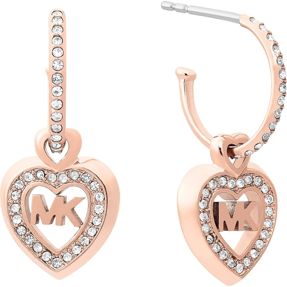 0a409fa28 Michael Kors Rose Goldtone Heart Earrings | Fashion Earrings ...