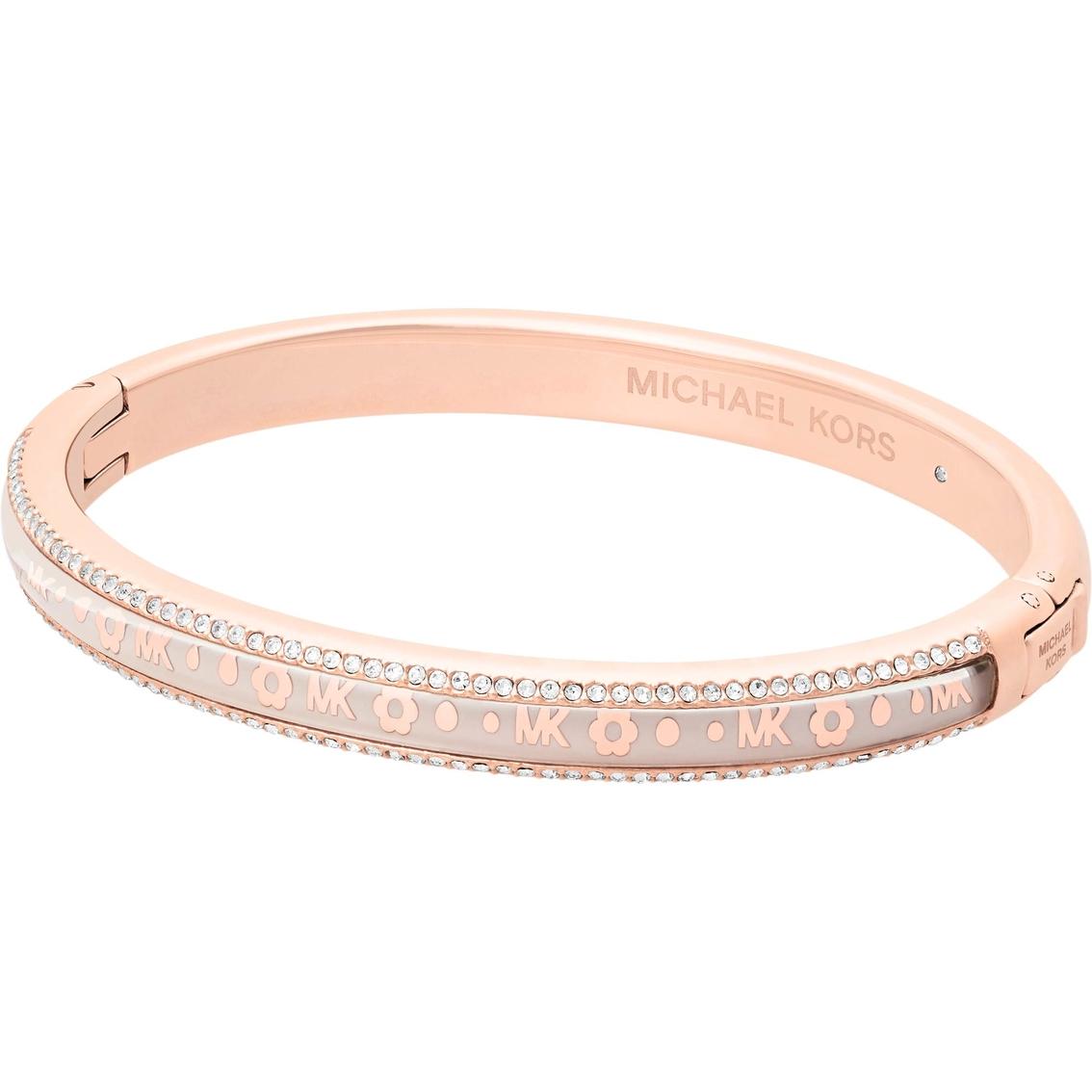 2f1038f7bdc10 Michael Kors Rose Goldtone Heritage Bracelet