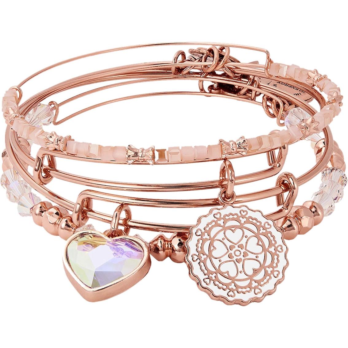 960abfbbb Alex And Ani Paper Hearts Set Of 4 Charm Bangle Bracelet | Fashion ...
