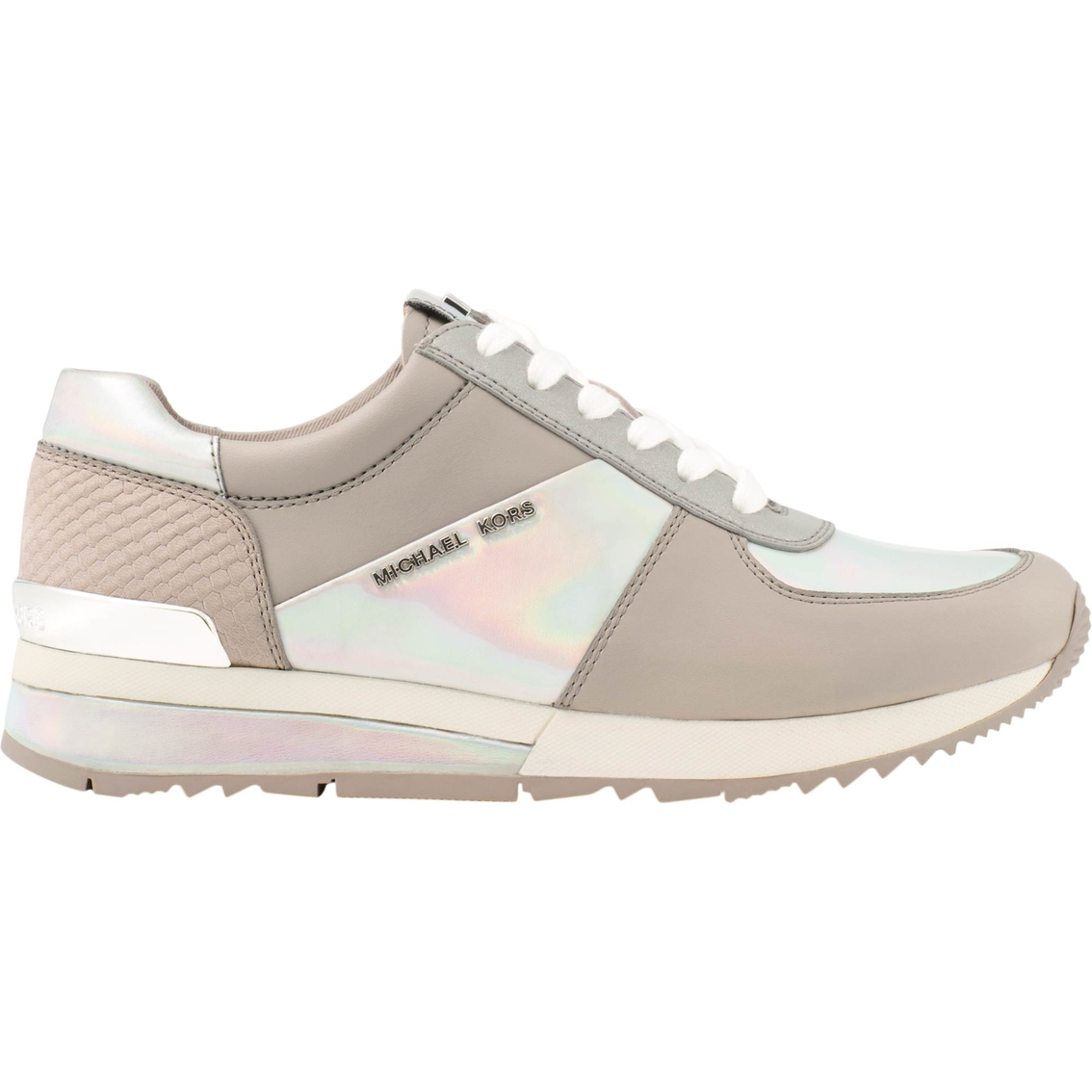 0a34cef145c Michael Kors Allie Wrap Trainer Iridescent Leather Sneakers ...