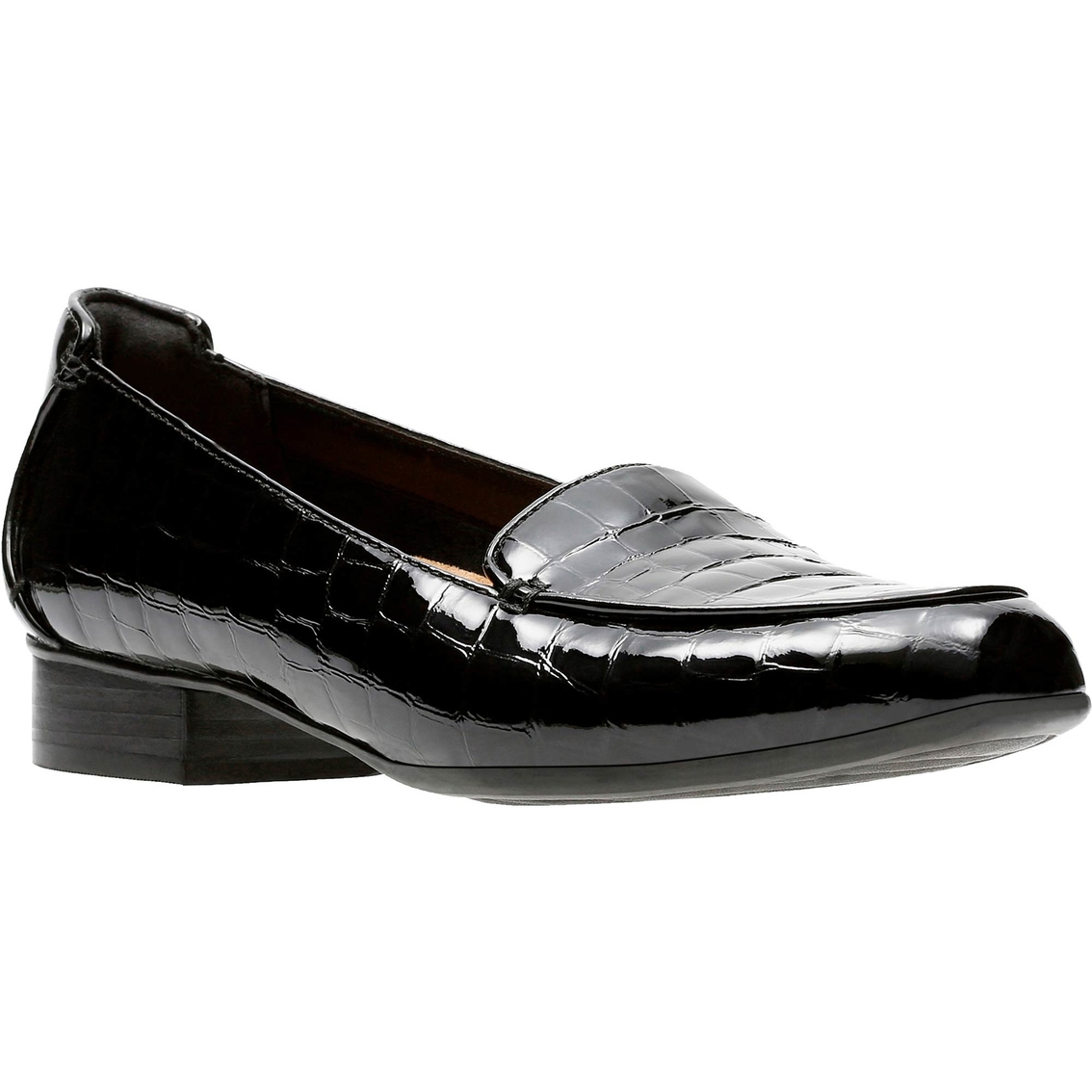 984a90b0f81 Clarks Keesha Luca Croc Patent Leather Slip On Shoes