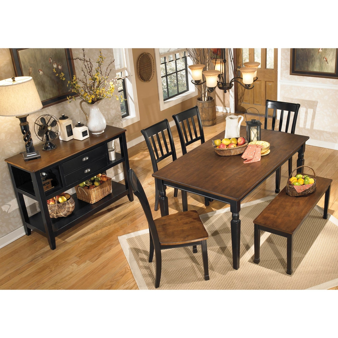 Signature Design By Ashley Owingsville 6 Pc Dining Set Dining Sets Furniture Appliances Shop The Exchange