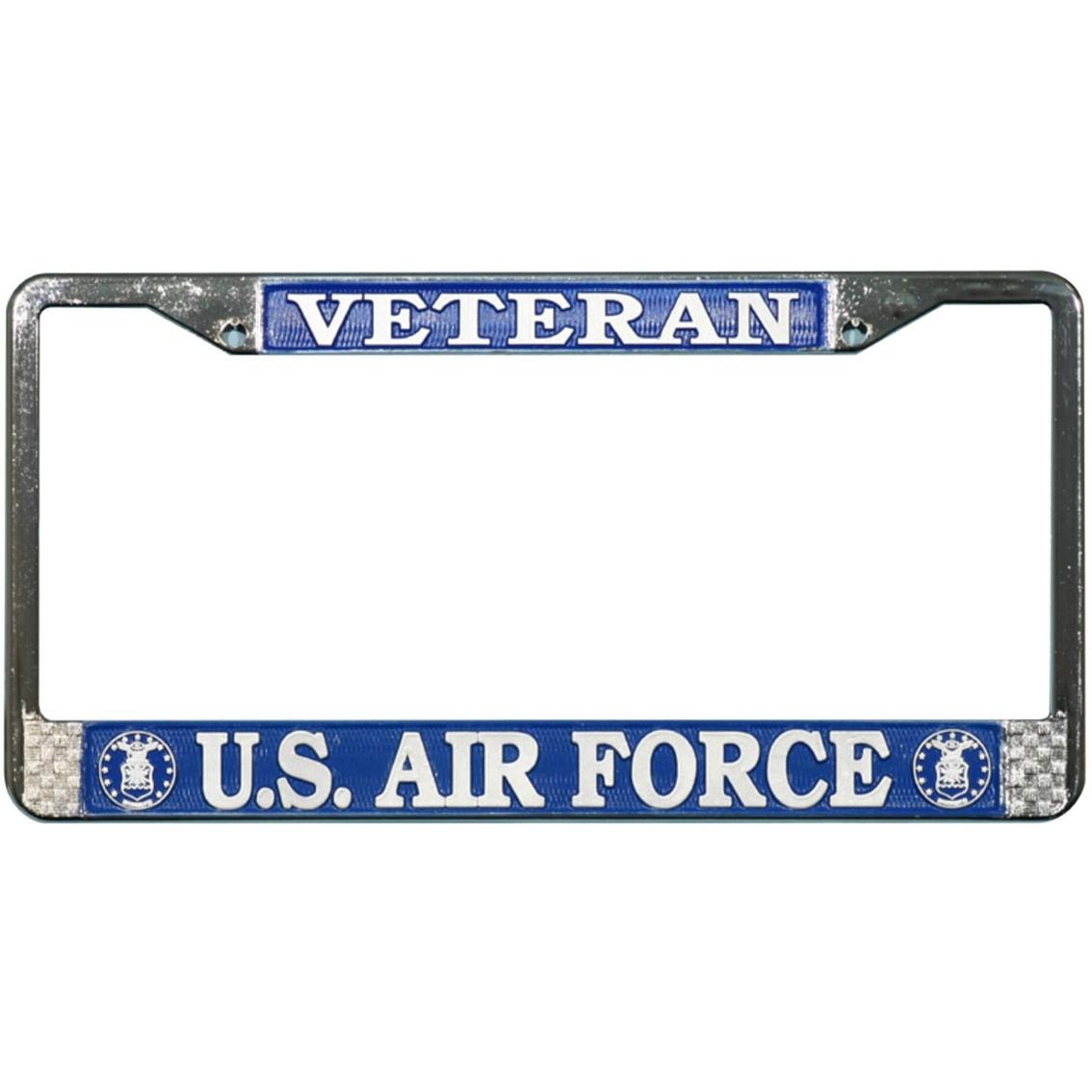 Mitchell Proffitt Air Force Veteran Chrome License Plate Frame