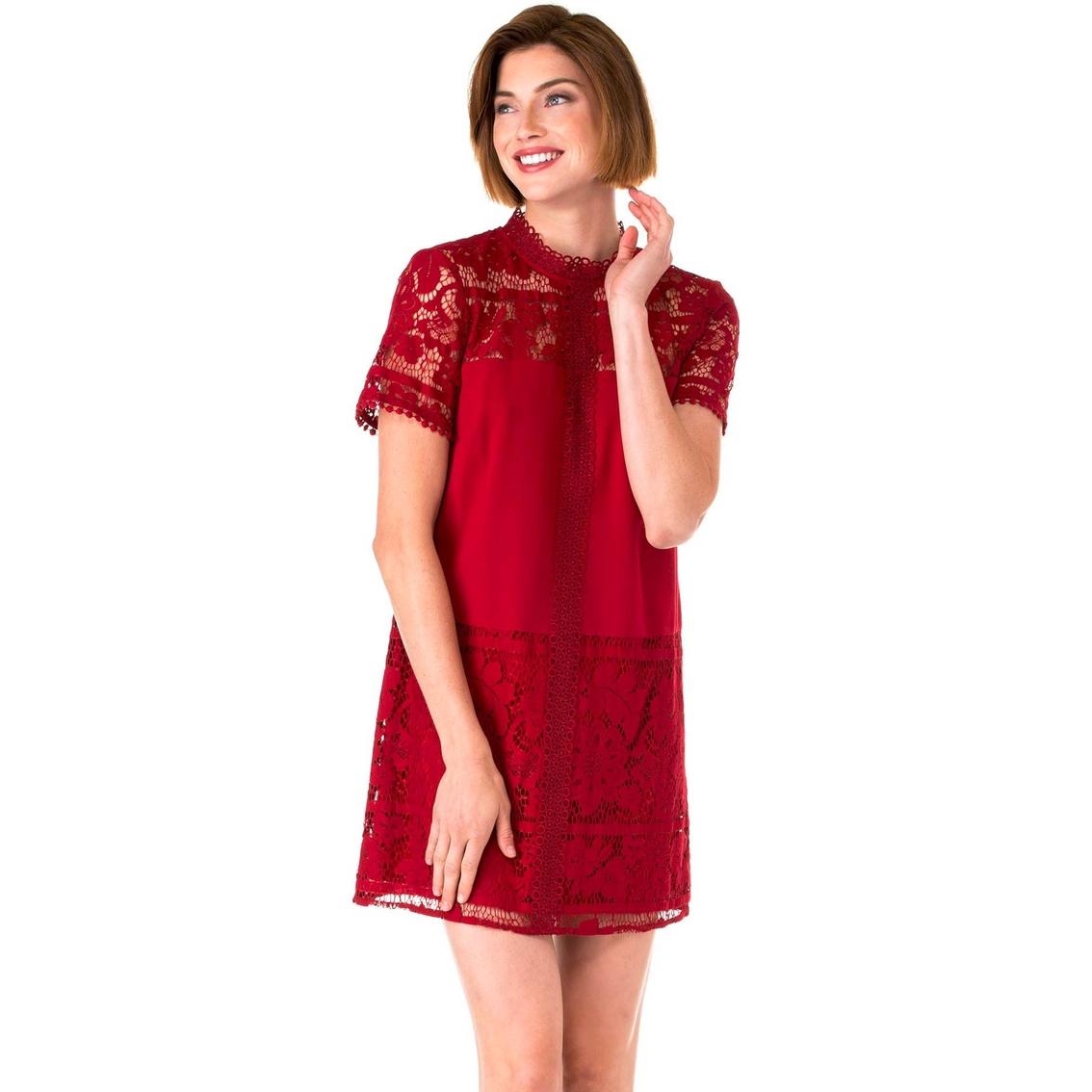2bb8441c71 Kensie Striped Floral Lace Dress