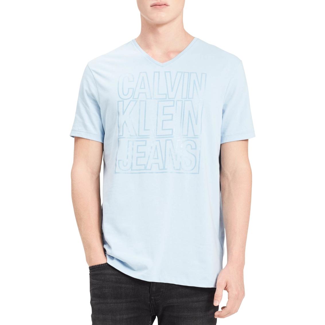 Calvin Klein Jeans Outline Logo V Neck Tee